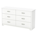 Fusion Double Dresser - 6 Drawers, Pure White - SS-9007010