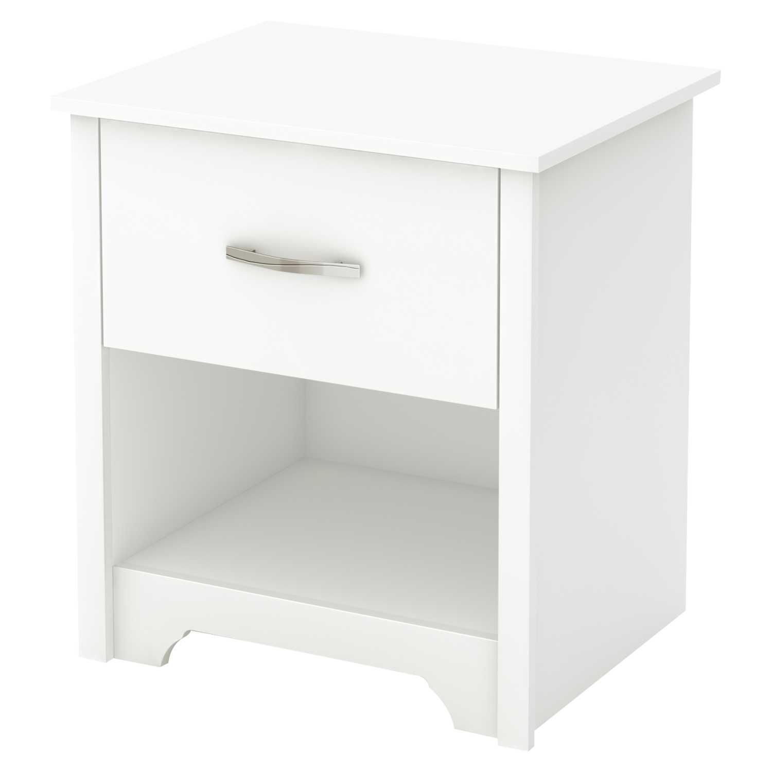 Fusion Nightstand - 1 Drawer, Pure White - SS-9007062