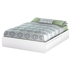 Fusion Queen Mates Bed - 2 Drawers, Pure White