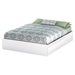 Fusion Queen Mates Bed - 2 Drawers, Pure White - SS-9007B1
