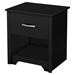 Fusion Nightstand - 1 Drawer, Pure Black - SS-9008062