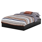 Fusion Queen Mates Bed - 2 Drawers, Pure Black