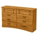 Cabana Double Dresser - 8 Drawers, Country Pine - SS-9009011