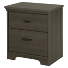 Versa 2 Drawers Nightstand - Gray Maple