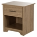 Fusion Nightstand - 1 Drawer, Rustic Oak - SS-9063062