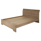 Fusion Queen Bed - Rustic Oak