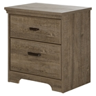 Versa 2 Drawers Nightstand - Weathered Oak