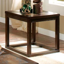 Alberto Square Top End Table in Dark Cherry