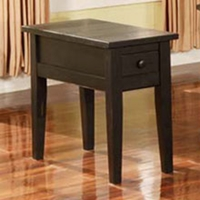 Liberty Chairside End Table in Antique Black