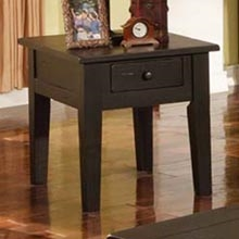 Liberty Country Style Antique Black End Table / Nightstand