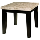 Monarch End Table with Black Legs and Marble Top