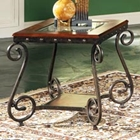 Ellery Glass Top End Table
