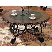 Rosemont Cocktail Table with Two Toned Round Top