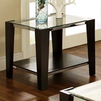 Newman Glass Top End Table