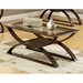 Dylan Glass and Wood Top Cocktail Table - SSC-DY300C