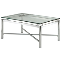 Nova Contemporary Cocktail Table with Glass Top