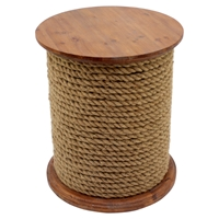 Wood Table - Round, Brown Base