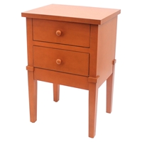 2 Drawers Wood Cabinet - Orange