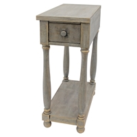 Wood Rectangular End Table - 1 Drawer