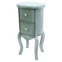 Wooden Cabinet - 2 Drawers, Blue