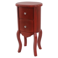 Wooden Cabinet - 2 Drawers, Red