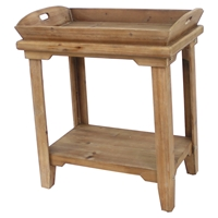 Wood Table - Tray Top, 1 Shelf