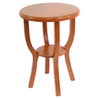Wooden Stool - Orange