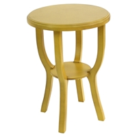 Wooden Stool - Yellow