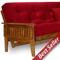Eastridge Wood Futon Frame - Tray Arm, Heritage Finish
