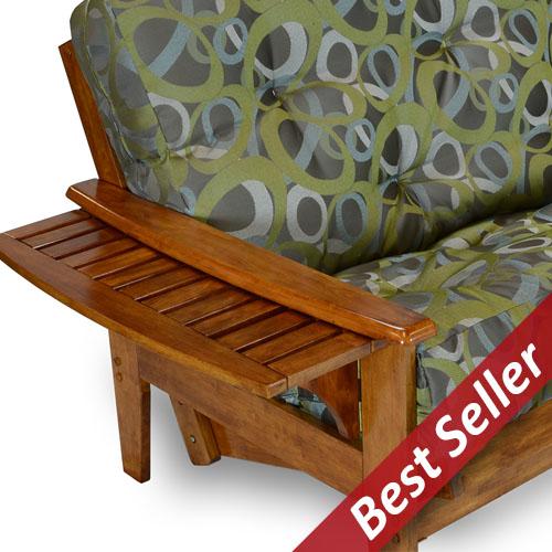 eastridge wood futon frame set   tray arm designer cover futon sets    plete packages  rh   futoncreations