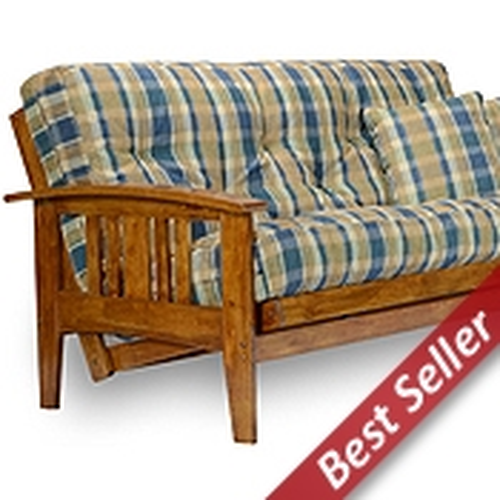 westfield wood futon frame set   heritage designer cover futon sets    plete packages  rh   futoncreations