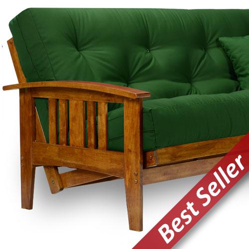 westfield wood futon frame   heritage finish wood futon frames   all wood futons at futon creations  rh   futoncreations