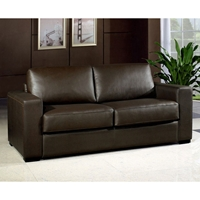 Dual Modern Chocolate Brown Leather Sofa Bed