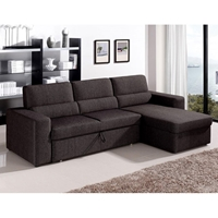 Piper Fabric Sectional Sofa Bed with Storage Chaise
