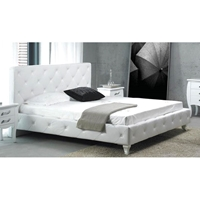 Monte Carlo Tufted Bed in White