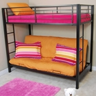 Sunset Twin / Futon Bunk Bed in Black