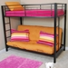Sunset Twin / Futon Bunk Bed in Black - WAL-BTOFBL