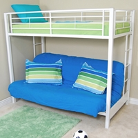 sunrise twin futon bunk bed in white