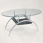 42'' Black Mesh Oval Coffee Table