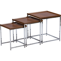 Adelina 3-Piece Nesting Table Set - Brown