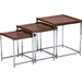 Adelina 3-Piece Nesting Table Set - Brown - WI-AKING-60194
