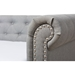 Mabelle Fabric Trundle Daybed - Button Tufted, Gray - WI-ASHLEY-GRAY-DAYBED
