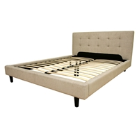 Quincey Cream Fabric Platform Bed