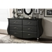 Enzo Faux Leather Dresser - 6 Drawers, Black - WI-BBT2039-BLACK-DRESSER