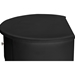 Ritchie Faux Leather Oval 2 Drawers Nightstand - Black - WI-BBT3067-BLACK-NS