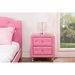Stella 2 Drawers Nightstand - Crystal Tufted, Pink - WI-BBT3084-PINK-NS