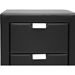 Frey Faux Leather Nightstand - 2 Drawers, Black - WI-BBT3089-BLACK-NS