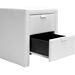 Frey Faux Leather Nightstand - 2 Drawers, White - WI-BBT3089-WHITE-NS