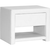 Massey Upholstered Nightstand - 1 Drawer, White
