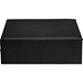 Dorian 2 Drawers Faux Leather Nightstand - Black - WI-BBT3106-BLACK-NS